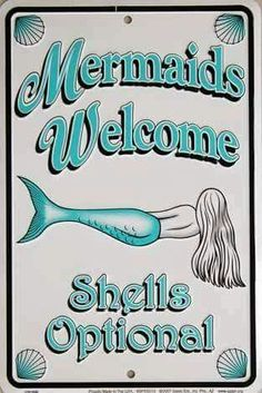 Welcome to Fin Fun, the world's leading maker of swimmable mermaid tails for kids and adults! Shop our mermaid tails for swimming, patented monofins, apparel & more now! Mermaid Cove, Mermaid Art, Mermaid Sign, Mermaid Paintings, Mermaid Shell, Mermaid Tails, Real Mermaids, Mermaids And Mermen, Mermaid Quotes
