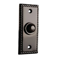 Exterior Door Bell Buttons - Keep your houses safe from burglars. Make sure that you're safe in the comfort of your houses. Home Design Decor, Dream Home Design, House Design, Interior Design, Doorbell Cover, Doorbell Button, Meditation Rooms, Door Furniture, Front Entry
