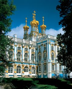 Catherine's Palace, St Petersburg, Russia. We met a group of friendly young people here, who were on vacation from Iran. When I told them that there was nothing in the U.S. to compare to this opulence, one young man said that was because we had never had a dictator. Interesting observation.