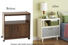 Re-purposed cheap thrift store furniture into something cool and pretty!  NRY