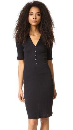 6397 Rib Henley Dress   SHOPBOP