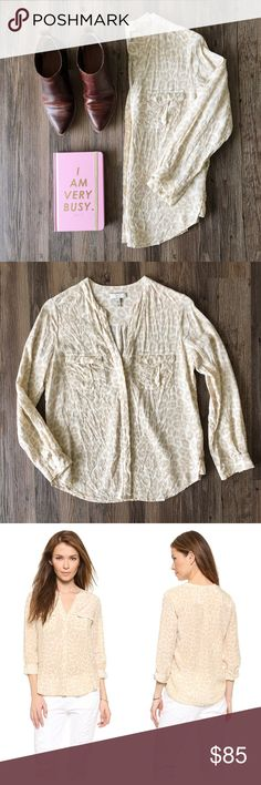 Joie silk blouse 100% silk blouse in a subtle leopard print—pre-loved in great condition. Joie Tops Blouses