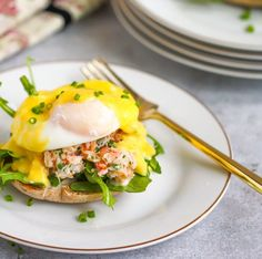 Crab Eggs Benedict #recipe via What Should I Make for Dinner... http://www.yummly.com/recipe/Crab-Eggs-Benedict-1615577