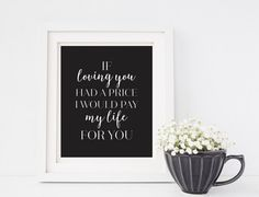 Love Quote Beyonce On the Run song lyric digital by ForEvaDesign