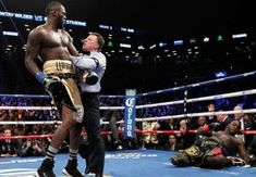 Wilder knockout Stiverne (Photo credit: Ed Diller/DiBella Entertainment) Undefeated heavyweight world champion Deontay Wilder retained . Anthony Joshua Fight, Deontay Wilder, Someone Like Me, Funny Meme Pictures, First Round, Referee, World Of Sports, Humor, Luis Ortiz