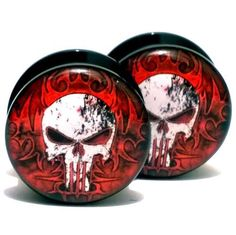 Find More Body Jewelry Information about Wholesale 20PCS/Lot  Black UV Acrylic Ear Plugs Screw Fit Ear Gauges Flesh Tunnels   The Punisher  Mix 10 Sizes 6MM 25MM,High Quality screw bar,China screw bridge Suppliers, Cheap screw m5 from DreamFire Store on Aliexpress.com