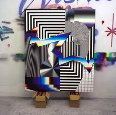 Paintings and installations by Felipe Pantone. - Exhibition-ism
