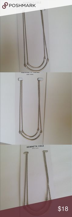 Kenneth Cole silver necklace new Kenneth Cole necklace silver new Kenneth Cole Jewelry Necklaces