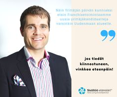 It's National Entrepreneurs Day in Finland! #Yrittäjät #Franchise #Franchising