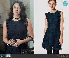 Veronica Lodge Fashion on Riverdale Veronica Lodge Fashion, Veronica Lodge Outfits, Strappy Maxi Dress, Lace Dress, Fashion Tv, Fashion Outfits, Verona, Riverdale Veronica, Red And Black Outfits
