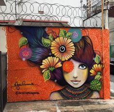 Brasile: nuovo muro della street artist Mari Pavanelli.