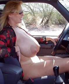 real women driving topless