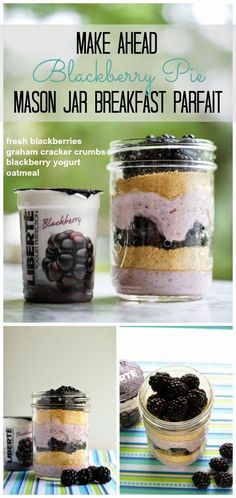 5 Make-Ahead Mason Jar Breakfast Parfait Recipes {with Publix Liberté Yogurt + Cash Giveaway} | The Two Bite Club | Bloglovin'