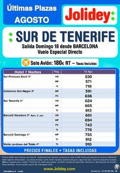 Oferta Sur de Tenerife Últimas Plazas Agosto, salida domingo 18 desde BARCELONA desde 530€ - http://zocotours.com/oferta-sur-de-tenerife-ultimas-plazas-agosto-salida-domingo-18-desde-barcelona-desde-530e/