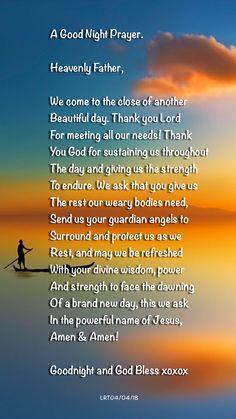 A GOOD NIGHT PRAYER BY LRT04/04/2018 AUCKLAND NEW ZEALAND