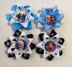 Frozen hair clip- party favor set of 10 on Etsy, $30.00