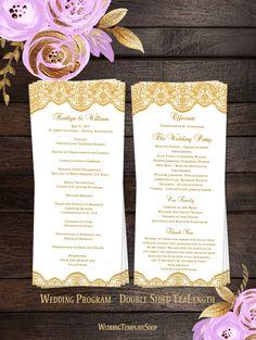 printable wedding program rustic wedding programs unique wedding