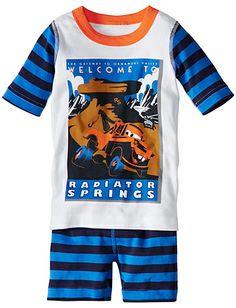 Disney•Pixar Mater Short John Pajamas from Hanna Andersson | Awesome retro #boyspajamas