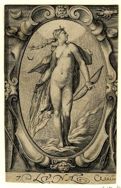 Luna by Jacob Matham 1597