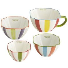 Striped Measuring Cups Set - After rearranging the kitchen, I plan to have a drawer of great/cute measuring devices. These are next from Pier 1.