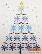 3.Snowflake christmas tree