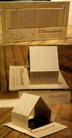 Custom Die Cut Interactive Business Card For Housekeeping Services