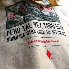 2666. La bolsa literaria inspirada en Benno Von Archimboldi :: It's Written Literary Apparel