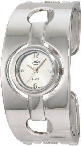 Golden Classic Women's 2138_Silver Parisian Couture Stylish Floating Bezel Bangle Watch: Watches: Amazon.com