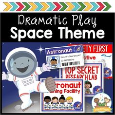 Dramatic Play Themes, Dramatic Play Centers, Pre K Pages, Space Projects, Space Center, Play Centre, Play Spaces, Montessori Materials, Little Learners