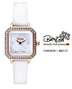 CHINNOR BB011C   | Meterail:316L Stainless Steel  | Movement: MIYOTA 5Y20  | Case Size: 20mm×26mm  | Band Size: 10mm  | Band: Genuine Leather / Enamel coated / Leopard Genuine / Mesh  | Crown: Swarovski Crystal Crown  | Swarovski Crystal: 48 Pcs  | Dial: MOP  | Glass: Jewel Cutted Mineral Crystal  | Water Resistance : 3 ATM