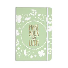 "KESS Original ""Own Luck"" Pastel Green Everything Notebook"