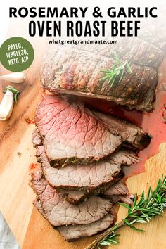 You'll never get store-bought roast beef again after trying this over roasted homemade roast beef infused with rosemary and garlic. It's paleo, Whole30, keto, and AIP, and it's perfect for the holidays or even just for meal prepping for a busy week! #paleo #whole30 #keto #aip #glutenfree #dairyfree Cooking Roast Beef, Roast Beef Recipes, Whole 30 Recipes, Real Food Recipes, Tofu Recipes, Free Recipes, Keto Recipes, Healthy Holiday Recipes, Keto Holiday