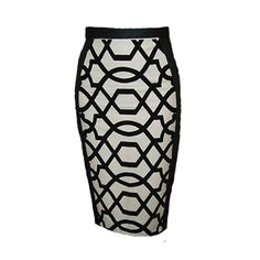 This skirt would look so fresh with a tuxedo shirt. :-) Border Control Pencil Skirt by EXPATRIATE on Etsy,