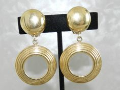 Authentic Signed Givenchy 1980s Gold Plated Dangle by JeweledLuv, $125.00