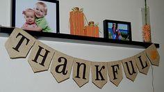 Nap Time Crafts:  THANKSGIVING Banner (reverse side says HALLOWEEN) ☀CQ #autumn #fall #thanksgiving #pumpkins óÓò