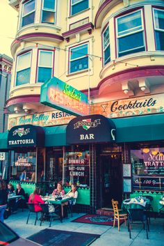 Great pizza in Little Italy, San Francisco