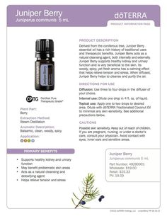 Juniper Berry essential oil. Great for urinary and kidney function. Order at www.mydoterra.com/kimhaggerty or for more tips visit and like www.facebook.com/kingwoodmomeo or shop my homemade essential oil products at www.etsy.com/shop/KingwoodMomEO