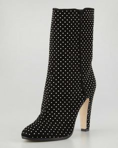 Jimmy Choo Tari Studded Suede Ankle Boot, Black on shopstyle.com