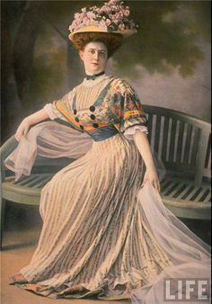 Madame Paquin--Fashion Designer of the 1900's. First successful woman of couture.