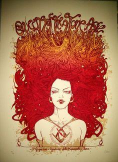 Queens of the Stone Age @Heather Creswell Hartz McKenzie -Malleus Poster