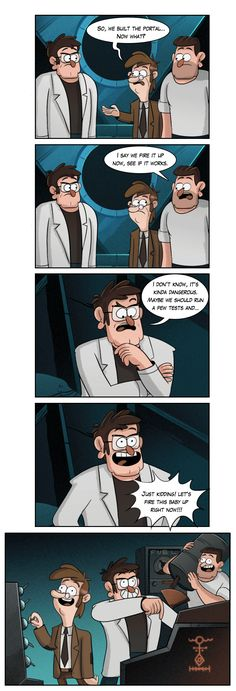Scientists of the month by markmak—Gravity Falls Gravity Falls Funny, Gravity Falls Comics, Best Tv Shows, Best Shows Ever, Disney Channel, Gavity Falls, Dipcifica, Fall Memes, Reverse Falls