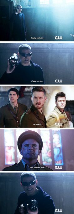 """""""You can see him"""" - Mick, Rip, Leonard, Nate and Ray #LegendsOfTomorrow ((He's back for real!))"""