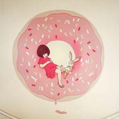 Donut - Vinilos infantiles Boys and Girls - Bebabe - Vinilos infantiles de Tela – Bebabe
