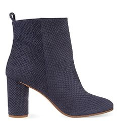 MAJE - Snake-embossed leather heeled ankle boots | Selfridges.com