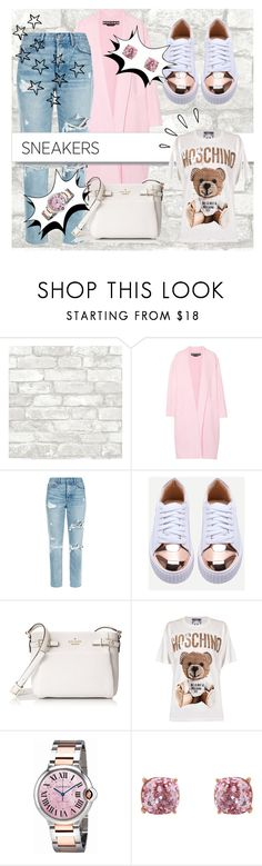 """""""Sneakers set"""" by lylechka ❤ liked on Polyvore featuring Rochas, GRLFRND, White Label, Kate Spade, Moschino, Cartier, Humble Chic and Old Navy"""