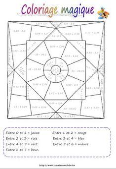 Coloriage magique calcul sur les décimaux