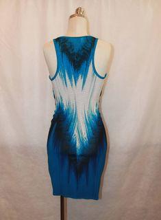 Roberto Cavalli Blue Ruched Sleeveless Short Dress - 4 4
