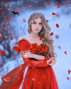 Beautiful Fantasy Art, Beautiful Gif, Dark Fantasy Art, Beautiful Flowers, Gif Bonito, Muslimah Wedding Dress, Good Morning Animation, Rose Flower Wallpaper, Beautiful Women Videos