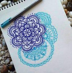 Mandalas blues art design