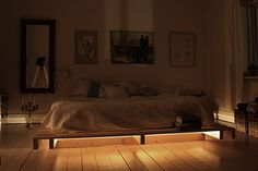 palettes bed with lights